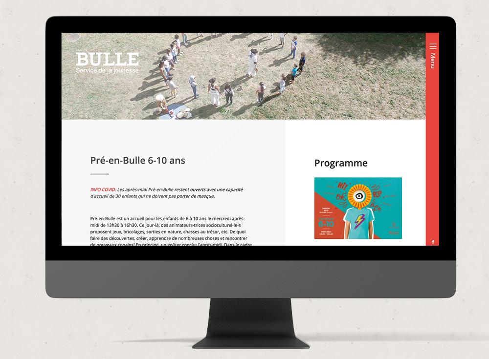 Jeunesse de bulle - Web Romandie
