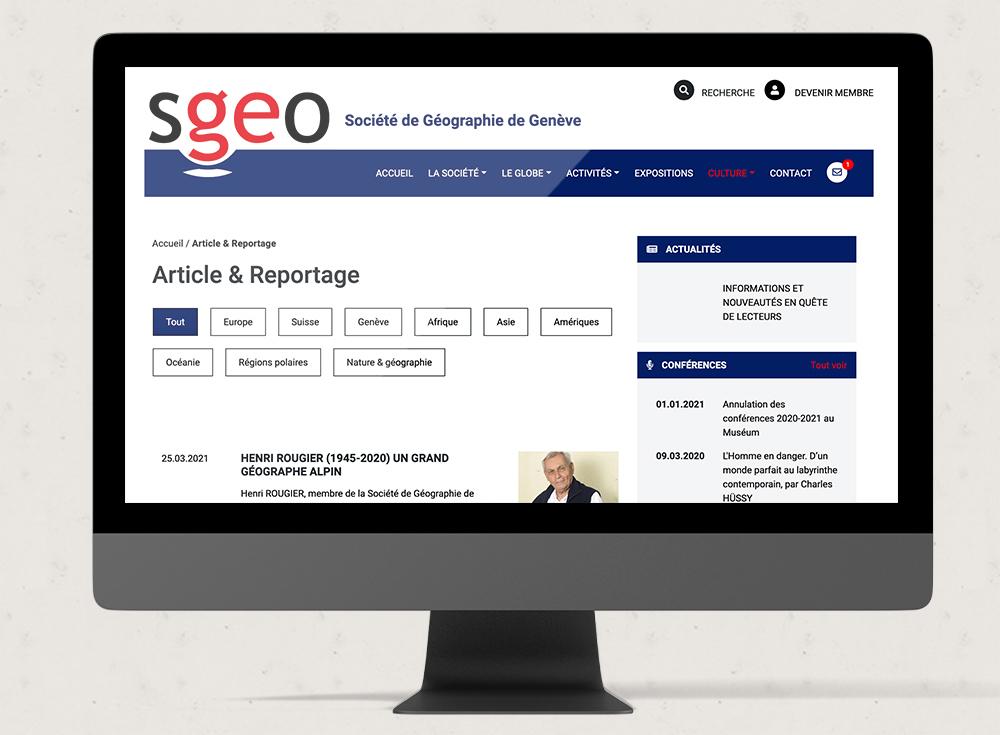 Sgeo - Web Romandie